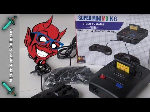 The Sega Megadrive Classic Mini K8 Retro Game Console Unboxing & Review thumbnail