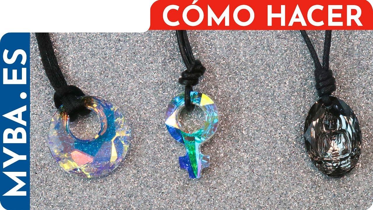 ebd882a53676 3 Ideas fáciles para montar colgantes con cordones. Bisutería DIY.