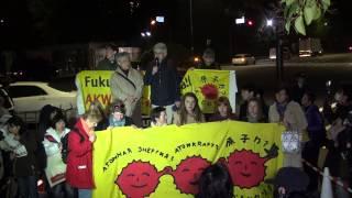 2014年4月18日国会正門前スピーチエリア・ベラルーシとドイツから来られた方のスピーチ