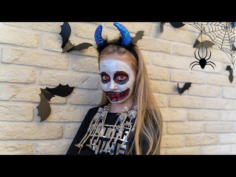 Ева готовит на Хеллоуин пальцы Никита и Миша в страхе