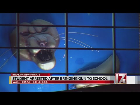 15-year-old charged with having gun at Wake Forest High School, officials say