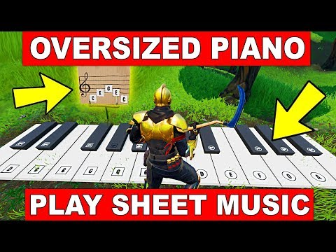 Visit An OVERSIZED PIANO & Play The SHEET MUSIC At An OVERSIZED PIANO - LOCATION WEEK 6 FORTNITE