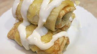 Блинчики С Курицей И Грибами!Очень Вкусные и Сытные! Pancakes with chicken and mushrooms