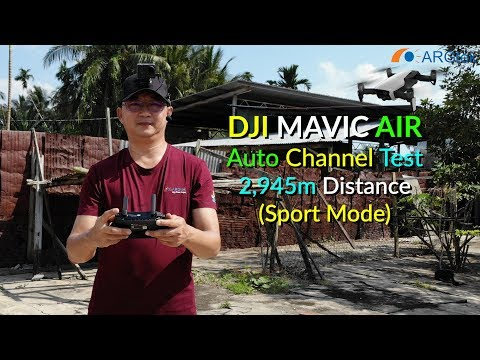 DJI Mavic Air - ARGtek Pilot Test Auto WiFi Channel 2,945m Distance (Sport Mode)