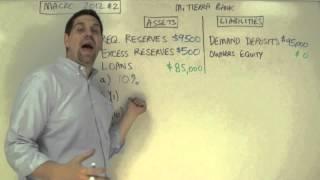 Macro 2012 FRQ #2- Bank Balance Sheets