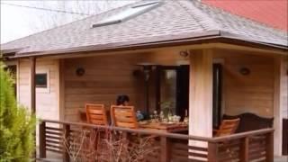 видео Проект бани из кирпича, бревна и бруса