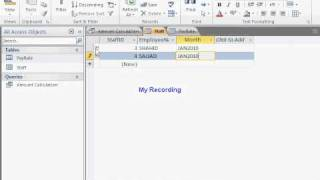 how to make salary sheet on MS Access 2010 Part--2