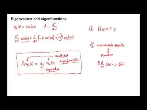 455: Eigenvalues and eigenfunctions