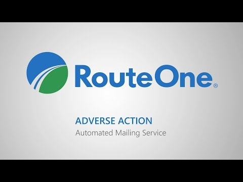 RouteOne's Adverse Action Mailing Service