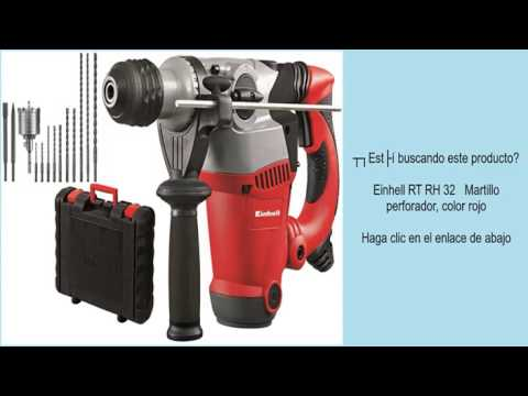 einhell rt rh 32 martillo perforador color rojo youtube. Black Bedroom Furniture Sets. Home Design Ideas