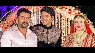 Suriya & Karthi at Arya and Sayesha Wedding!