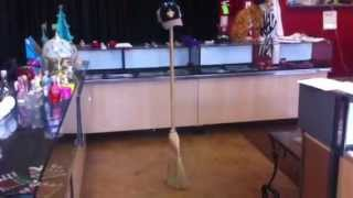 Magic broom stick challenge. Epic trick with hat and glasses.  Super Balancing act