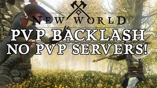 New World PVP COMMUNITY BACKLASH! No PVP SERVERS! New World MMO!