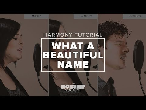 """Harmony Tutorial — """"What A Beautiful Name"""" (Hillsong)"""