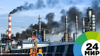 Черный дым и горящий факел на НПЗ в Капотне напугал соцсети - МИР 24