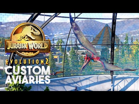 CUSTOM AVIARIES? Solid Evidence For New Feature!   Jurassic World Evolution 2 News & Speculation  
