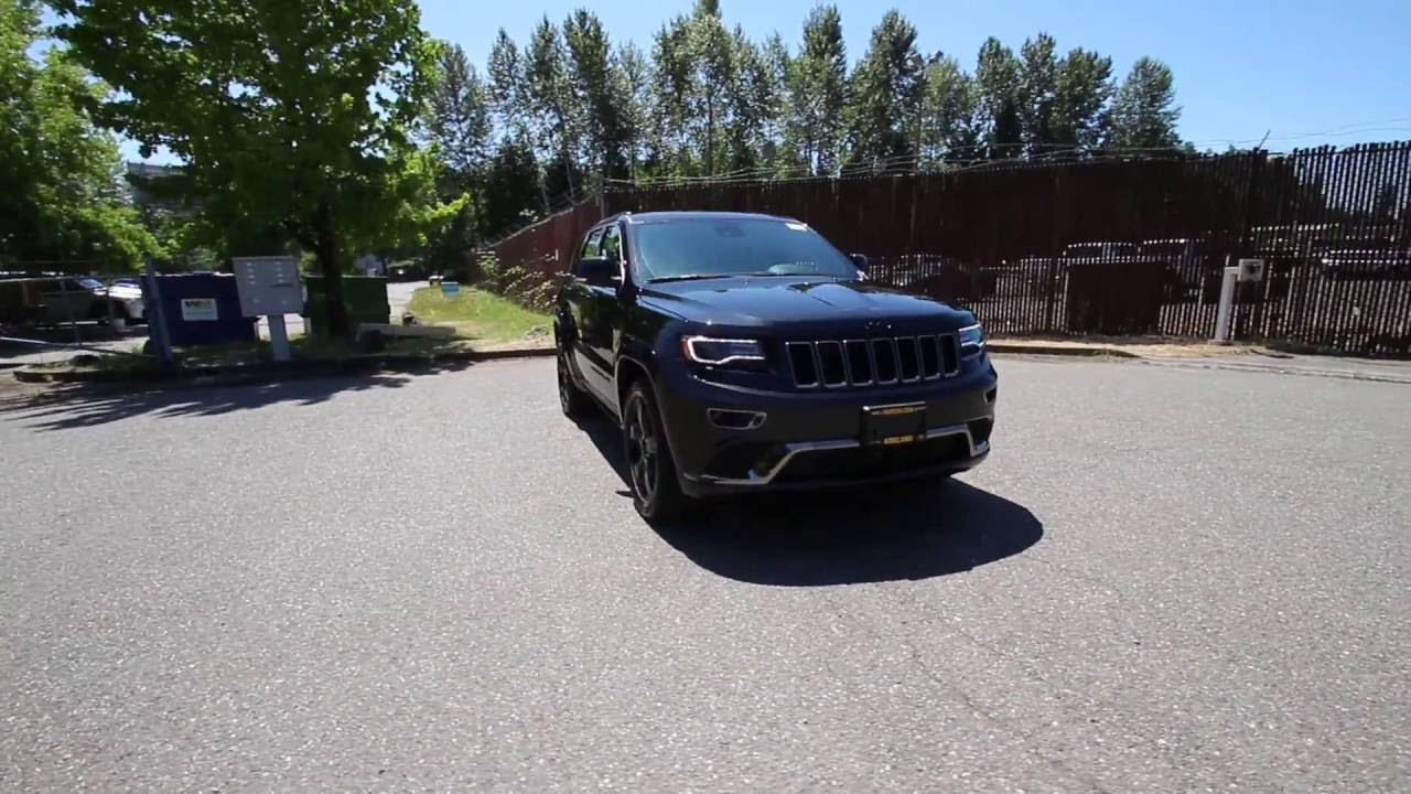 2016 Jeep Grand Cherokee Overland High Alude Black Gc435031 Redmond Seattle You