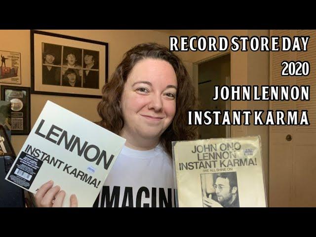 Record Store Day 2020 John Lennon Instant Karma Comparison Youtube
