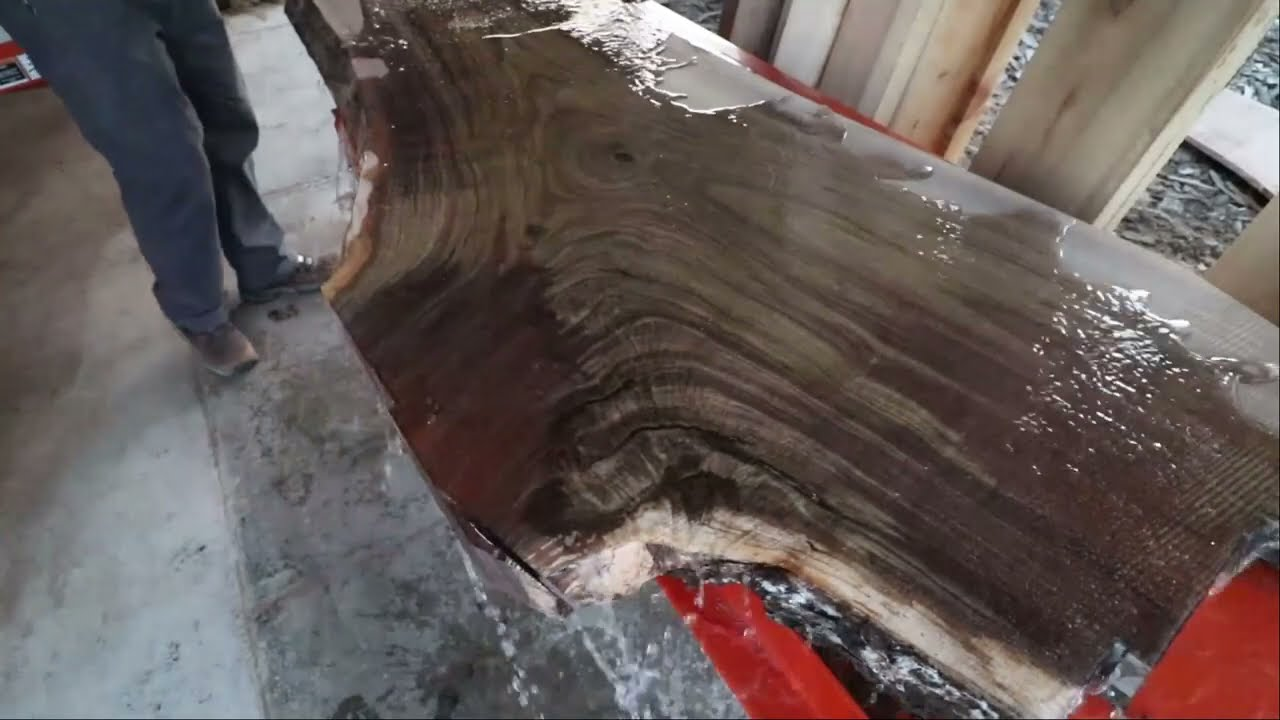 The Most Valauble Live Edge Slab To Date: Must See Amazing Crotch Walnut