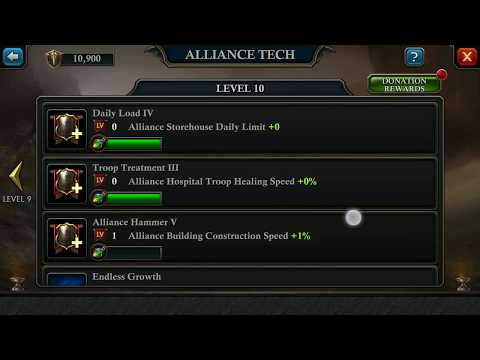 (Solved)Maxed Alliance Tech Donation Problem - King Of Avalon