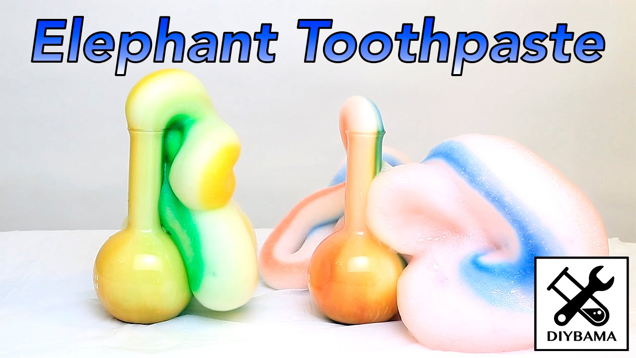 Funny Elephant Toothpaste (Chemical Reaction) - YouTube