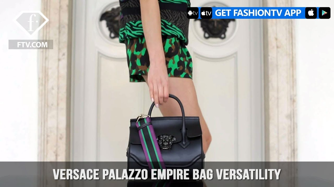 189aa1efdfdc Versace Palazzo Empire Bag Versatility Black Leather ...