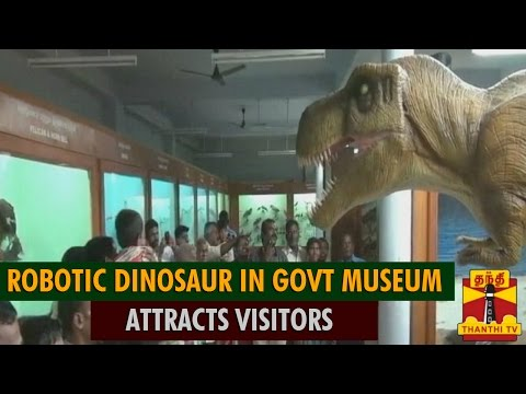 Robotic Dinosaur In Government Museum Attracts Visitors - Thanthi TV