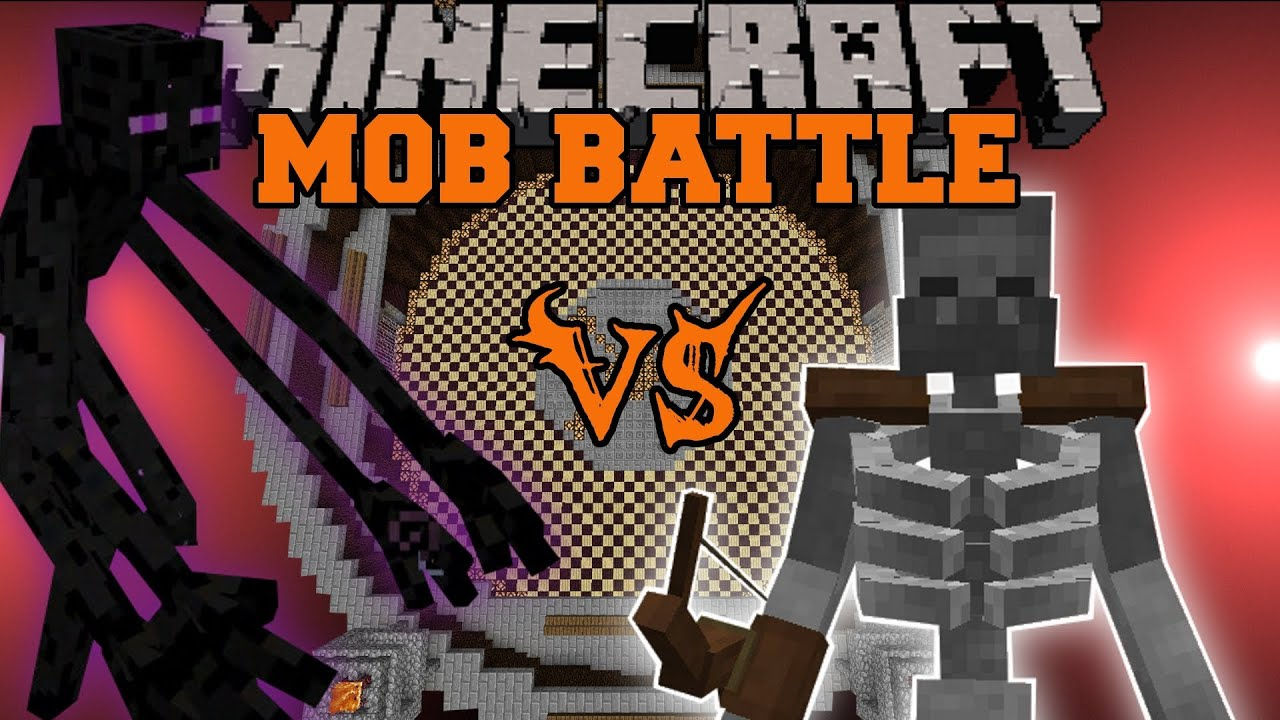 Mutant Enderman Vs Mutant Skeleton Minecraft Mob Battles