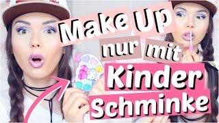 Ganzes Make Up nur mit KINDER SCHMINKE 👶🏻 | ViktoriaSarina