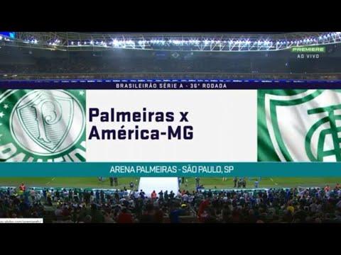 Palmeiras 0 x 0 América MG  - Melhores Momentos (1 TEMPO) - BRASILEIRÃO 2018
