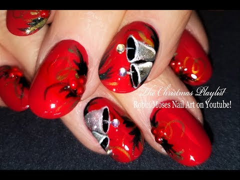 Silver Bells! AMAZING Request for Christmas Nail Art! Detailed, Please read!