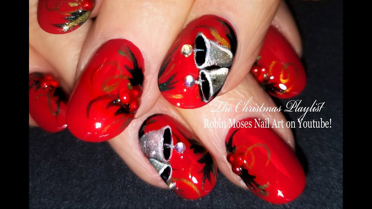 Silver bells amazing request for christmas nail art detailed silver bells amazing request for christmas nail art detailed please read prinsesfo Image collections