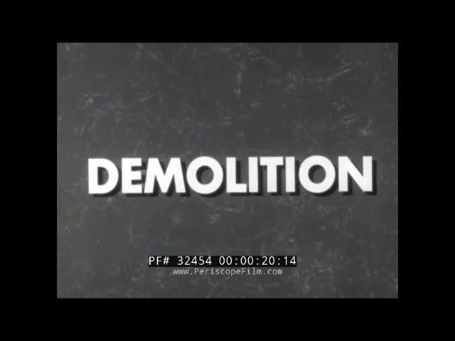 1950s U.S. ARMY DEMOLITION ELECTRIC PRIMER TRAINING FILM 32454