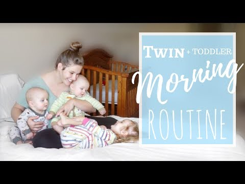 TWIN + TODDLER MORNING ROUTINE | STAY AT HOME MOM EDITION