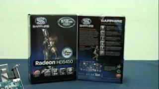 藍寶科技 sapphire ati radeon hd5450 512mb ddr2 graphics card video review