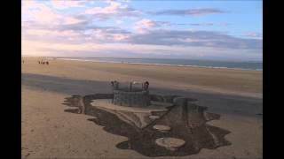 3d sand drawing timelapse