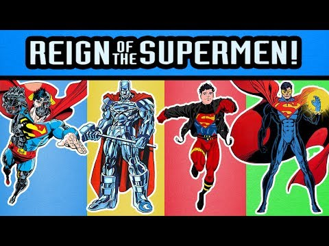 DC Comics DCUC Reign of Supermen Eradicator, Steel, Superboy, and Cyborg Superman Action Figures