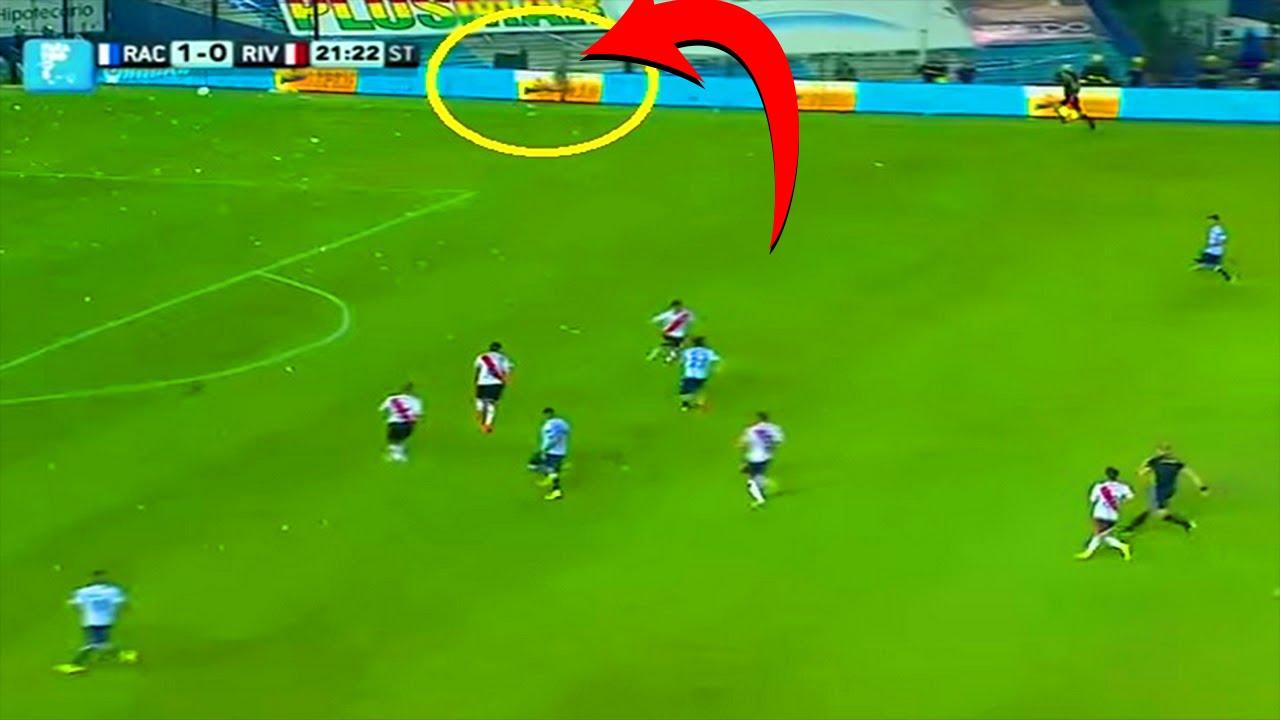 Fantasma aparece durante un partido en Argentina Racing 1 vs River Plate 0  2014. Fútbol Mundial 68c76692cf650