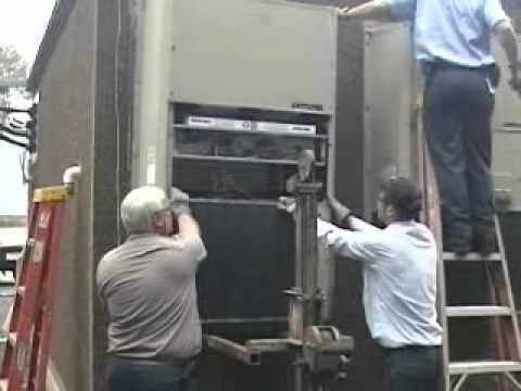 3 5 Ton Ac Unit >> Thru-wall HVAC Retrofit - YouTube