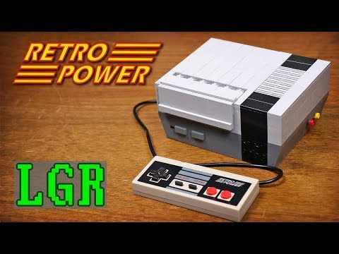 Working Nintendo NES games console built from LEGO powered by Pi