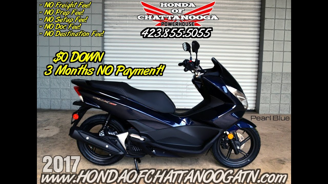 2017 Honda PCX150 Scooter Review of Specs - Blue PCX SALE Prices @ Honda of  Chattanooga TN Dealer