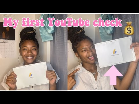 MY FIRST YOUTUBE PAYCHECK + HOW TO GET PAID FROM YOUTUBE 💸