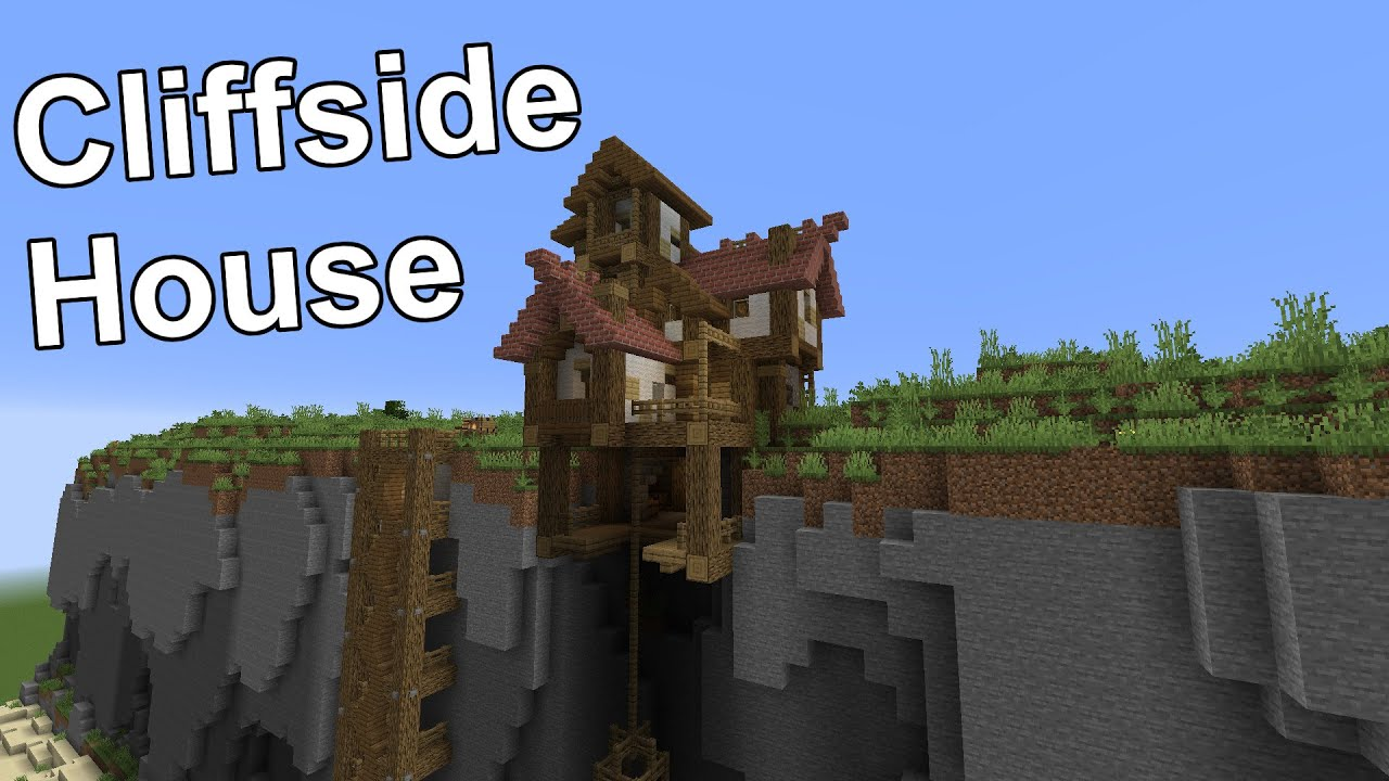Minecraft Timelapse Cliffside House Building Small Worlds 012 Youtube