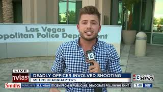 Las Vegas police talk about shooting in downtown area