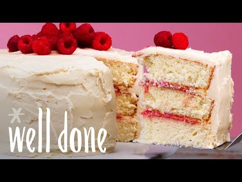vanilla-buttercream-frosted-cake-with-raspberry-curd-filling-|-recipe-|-well-done