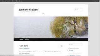 Tasuta kodulehe tegemine(Kodulehe tegemine WordPressiga + Tasuta server ja domeen. http://www.koduleheloomine.com., 2012-01-25T16:07:53.000Z)