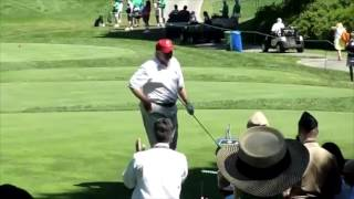 Trump vs. Obama: Golf Swing