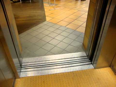 KONE Traction elevator/lift at Port of Turku, Viking Line Terminal, Turku, Finland