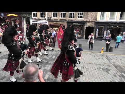 Scots Guards Parade Edinburgh's Royal Mile With Scottish Crown 2 Of 4 [4K/UHD]