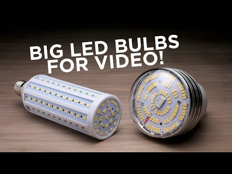 LED Bulbs For Video And Photo Lights!